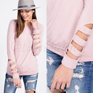 c2e869e1a7e HP🎉Soft long sleeve knit top with sleeve cutouts